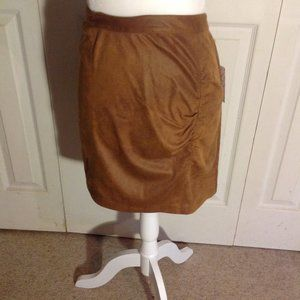 Free People Faux Suede Mini Skirt. NWT. Size L